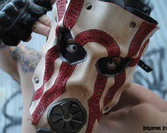 Psychotic Leather Mask - Inspired by Borderlands