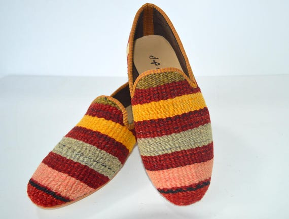 Kilim shoes men 41 euro size   Etsy