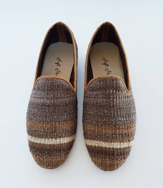 f18d0dda029 41 men euro size kilim shoes loafer handmade vintage Kilim
