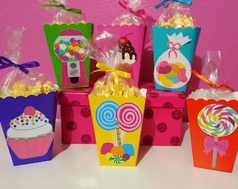 Sweet Shoppe or Candyland Snack Boxes - Set of 10