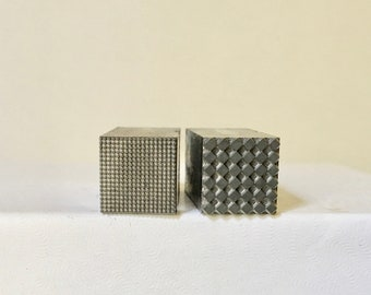 Letterpress Type Pair of Grid or Square 36pt Blocks