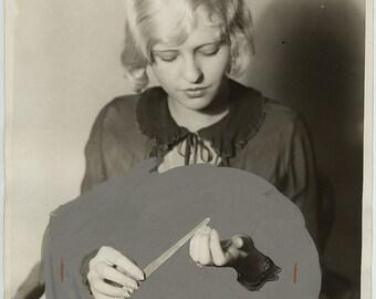 Surreal original manicure press photo 1927