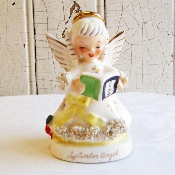 1960s Napco September Girl Birthday Angel Figurine Smaller 4 Etsy