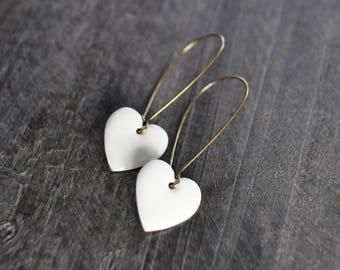 Boucles d'oreilles coeur - Bijou amour - Coeur - Choix de couleurs - Bijou minimaliste - Coco Matcha