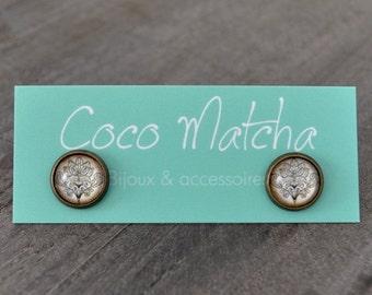 Clous d'oreilles - Stud earrings - Bohemian earrings - Bijou bohème - Nature inspired jewelry - Coco Matcha