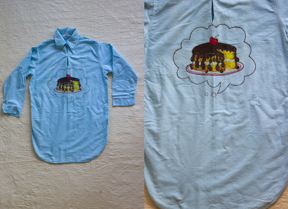 1ae346b30 Vintage 1960 s RARE Pop I Dream of Cake Sleep Shirt