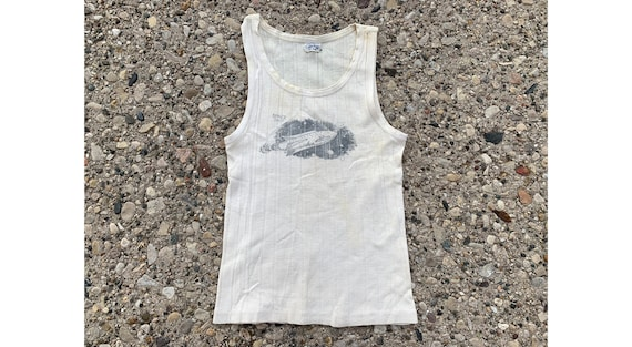 133f29c72 Vintage 1930 s Spaceship Graphic Tank Top Childrens