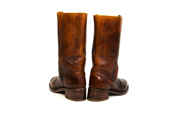 Western Sears Vintage Retro 2 Tall Size 1 Men's Boots 10 Country Wear 11 Women's Hip 9 1 2 Size Leather 1970's 55rngH