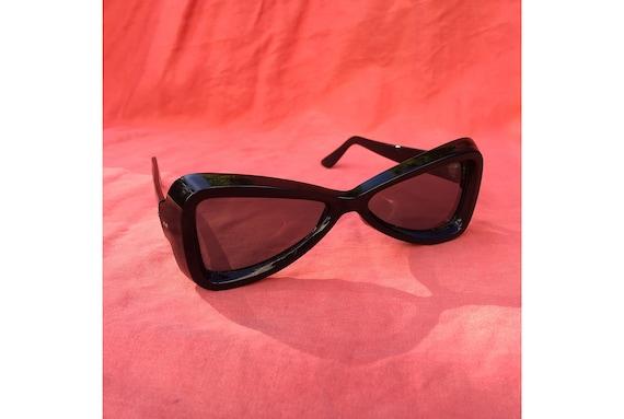0a6a88e4663 Vintage 1960 s MOD Black Sunglasses 60 s Fashion