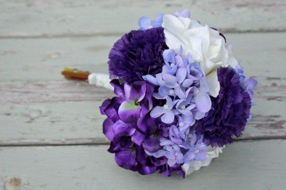 Lila Lavendel Elfenbein Seide Hochzeitsstrauss Rosen Etsy