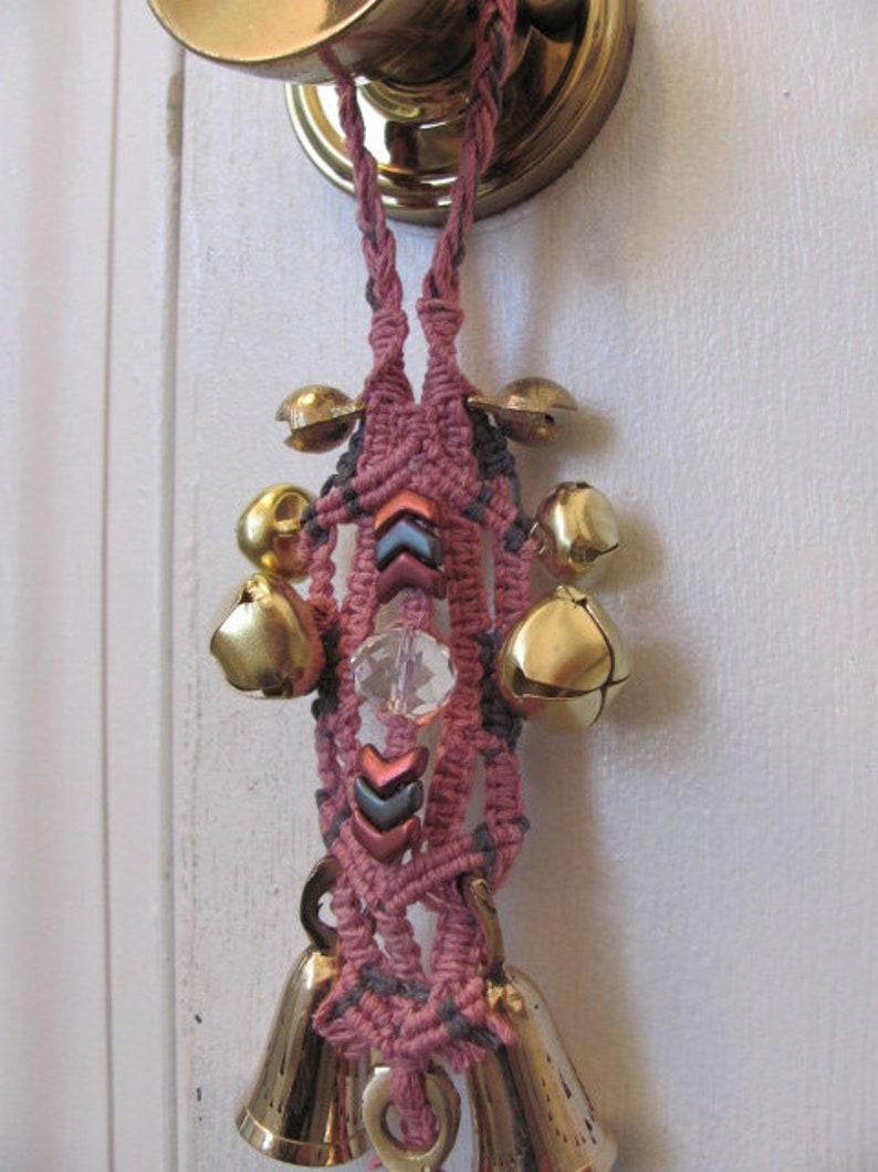 Macrame Doorknob Chime