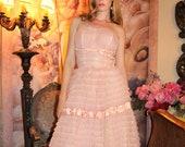 50s Vintage Layered TULLE Ballet Dress Ballerina Ruffled Princess Ball Gown Tea Party // 1950's by TatiTati Style on Etsy