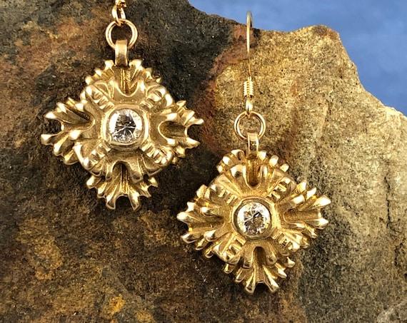 Historically Inspired Bronze Drop Earrings