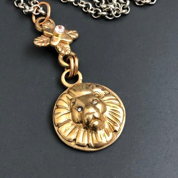 Classic Lion Pendant Necklace