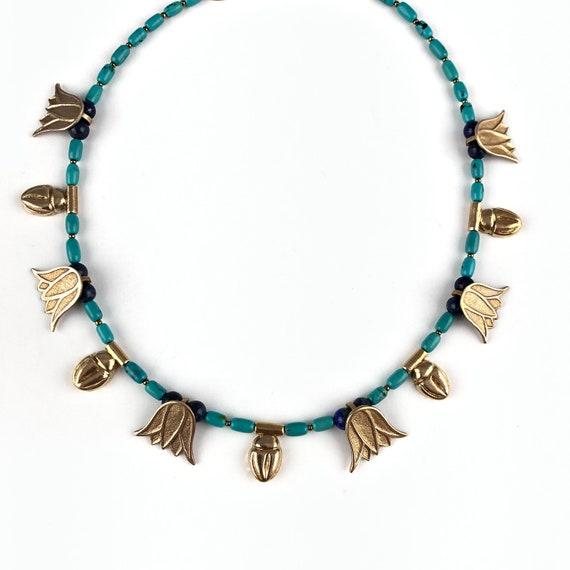 Scarab and Lotus design collar