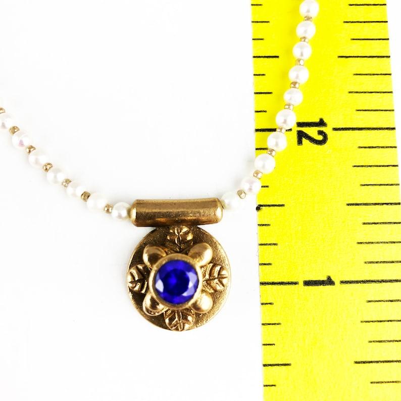 Historically Inspired bronze pendant necklace