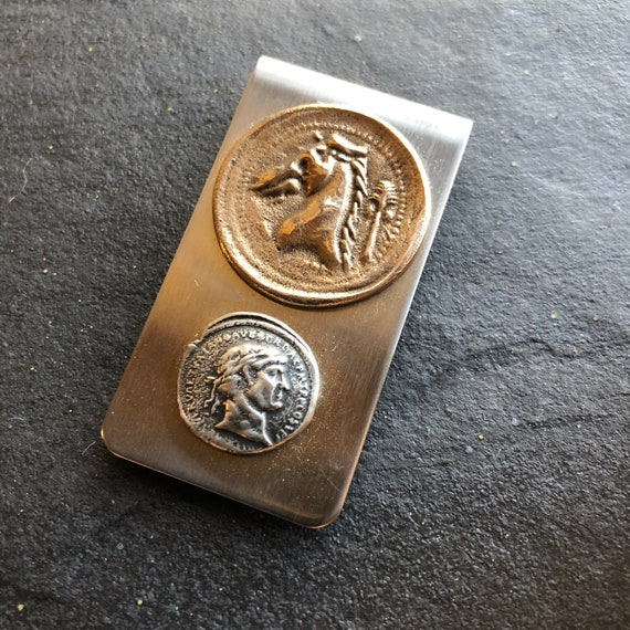 Money Clip with coins
