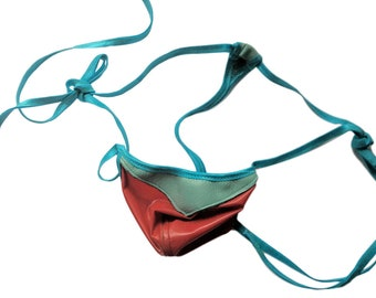dd767e8641f1 Men's LEATHER and LATEX Rubber G String Wild Colors Exotic Thong Second  Skin Shiny Fetish Fantasy Fun Beach to Bedroom Super Low