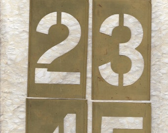 """5"""" Number Stencil Brass Large 5 inch Pick your Number"""