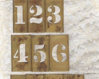 """2"""" Brass Stencil Pick your Number ready to alter or collage"""