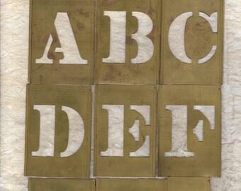 """2.5"""" Letter Stencil Alphabet Brass Stencil"""