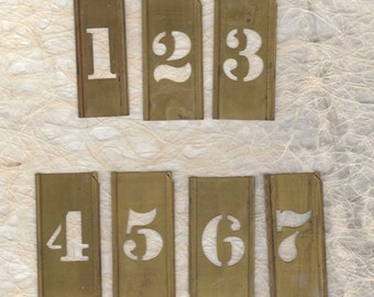 """1"""" Brass Stencil Pick your Number ready to alter or collage"""