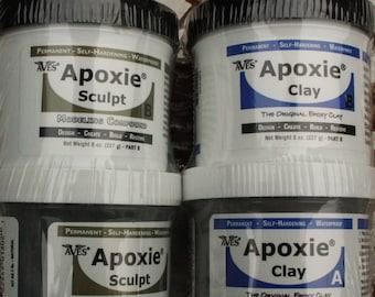 Aves Apoxie Clay or Apoxie Sculpt 1 pound adhesive sculpting clay air dry clay
