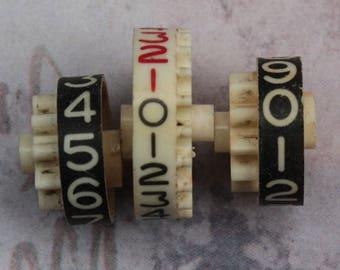 Number Gears from Cash Register Adding Machine Vintage