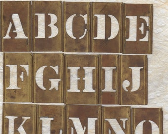"""2"""" Letter Stencil Alphabet Brass Stencil"""