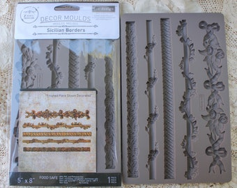 Decor Moulds Sicilian Borders re-design Prima Molds Silicone for resin clay food safe chocolate