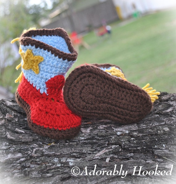 e98d7faf404 Baby Cowboy Boots Crochet Baby Booties Fringe Boots Infant