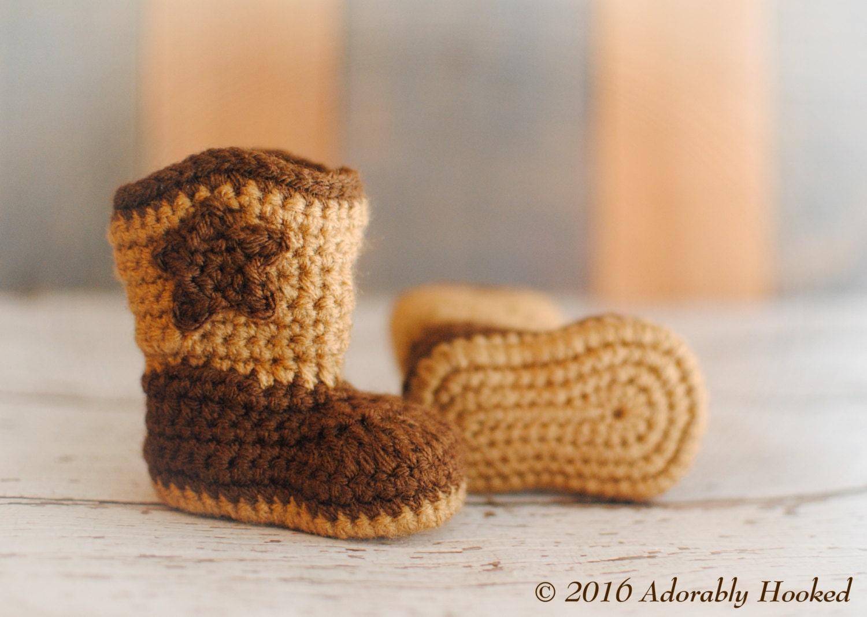eec116be656 Baby Cowboy Boots Crochet Baby Booties Boy Booties Girl