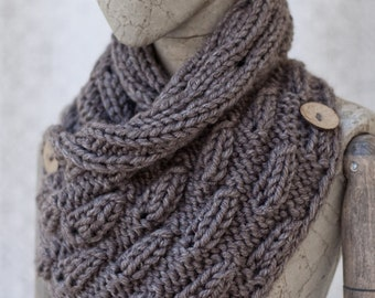 Chunky Textured Hand Knit Neck Warmer
