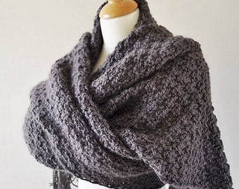 Buttery Soft Oversized Knit Scarf, Extra Wide Knit Scarf, Alpaca Knit Scarf, Super Scarf, Lenny Kravitz Scarf, Blanket Scarf