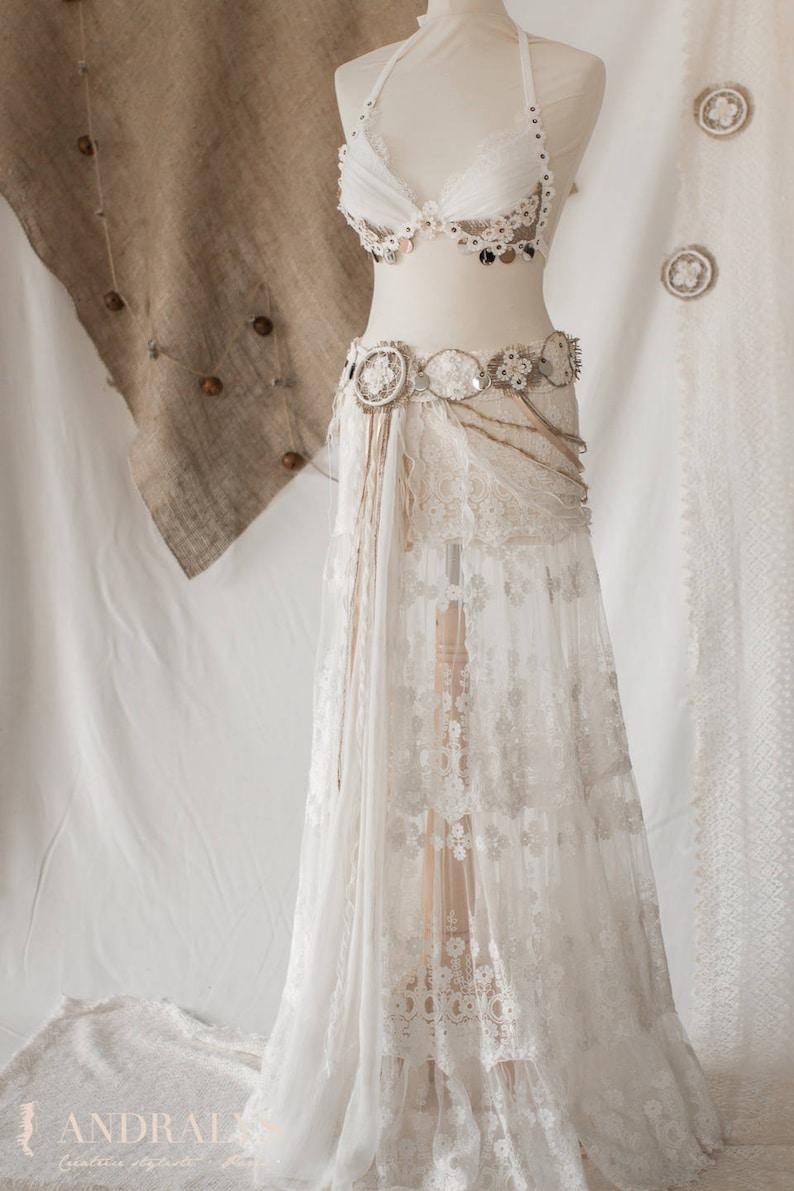 Bohemian  tribal lace skirt image 0
