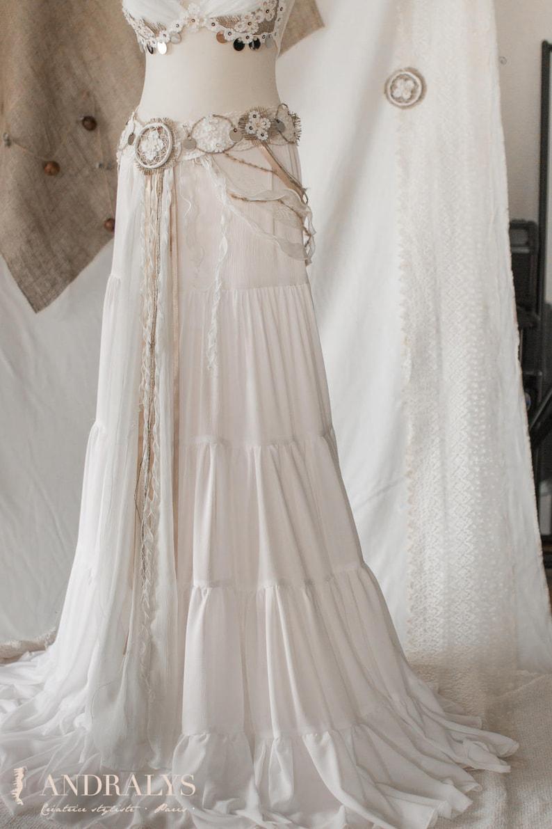 Bohemian  tribal cotton skirt image 0