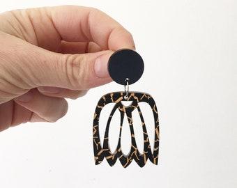 Monstera Earrings Extra long Earrings Monstera Leaf Banana Leaf Earrings Statement Earrings Acrylic Earrings Monstera Palm Oscar and Matilda