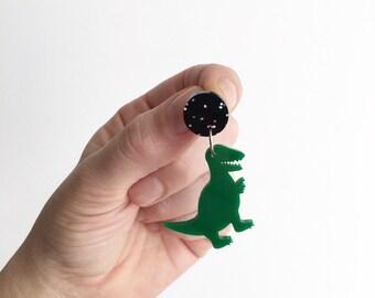 T Rex Dinosaur  Reptile Earrings Statement Acrylic Earrings Oscar and Matilda