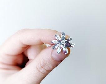Mini Polli -  Glitter Acrylic Daisy Flower Earrings in a mini statement stud size by Oscar and Matilda