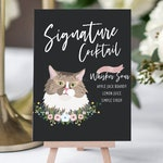 Signature Drink Sign, Pet Wedding Sign, Wedding Bar Menu, Signature Drinks, Pet Portrait