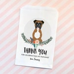 Favor Doggie Bag, Confetti Bag, Gift from your Pet, Custom Illustration, Pet Favor Bag