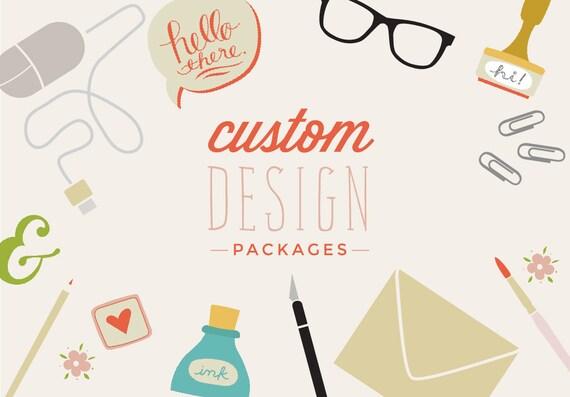 Custom Invitation Design Wedding Invitations Showers Etsy