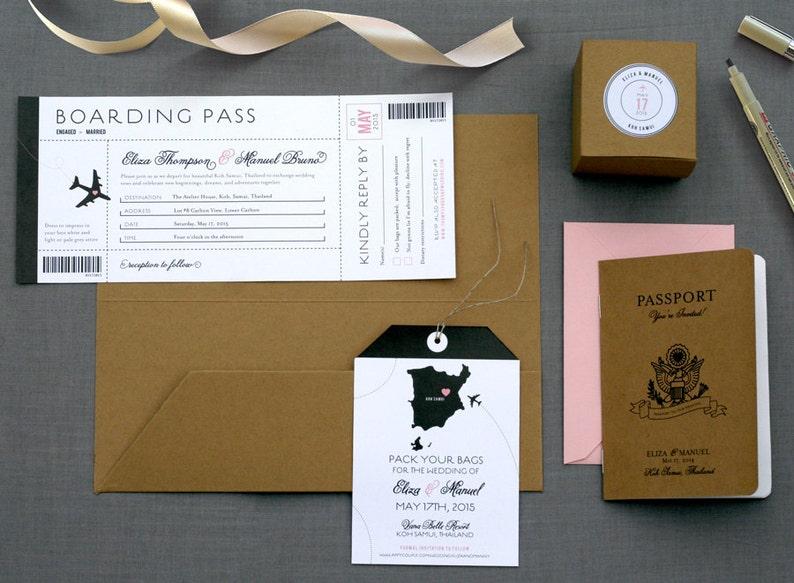 Destination Wedding Invitation / Passport Booklet / Luggage image 0
