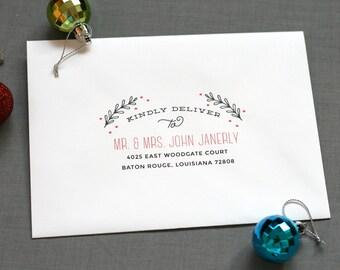 Envelope Printing - Recipient Address - Return address - Holiday Cards - Digital Calligraphy - Christmas Cards