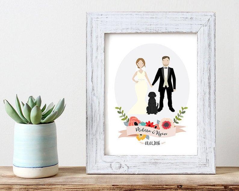 Custom portrait of couple custom couple illustration image 0