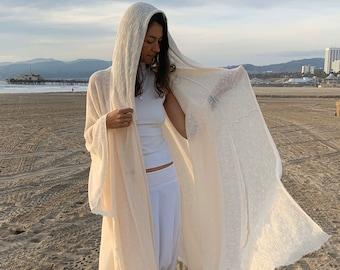 Hooded Cloak, Nomad Kimono, Festival Costume, Festival Clothes, Robe Boheme, Jedi Cape, Ceremony Cape, Kimono Robe