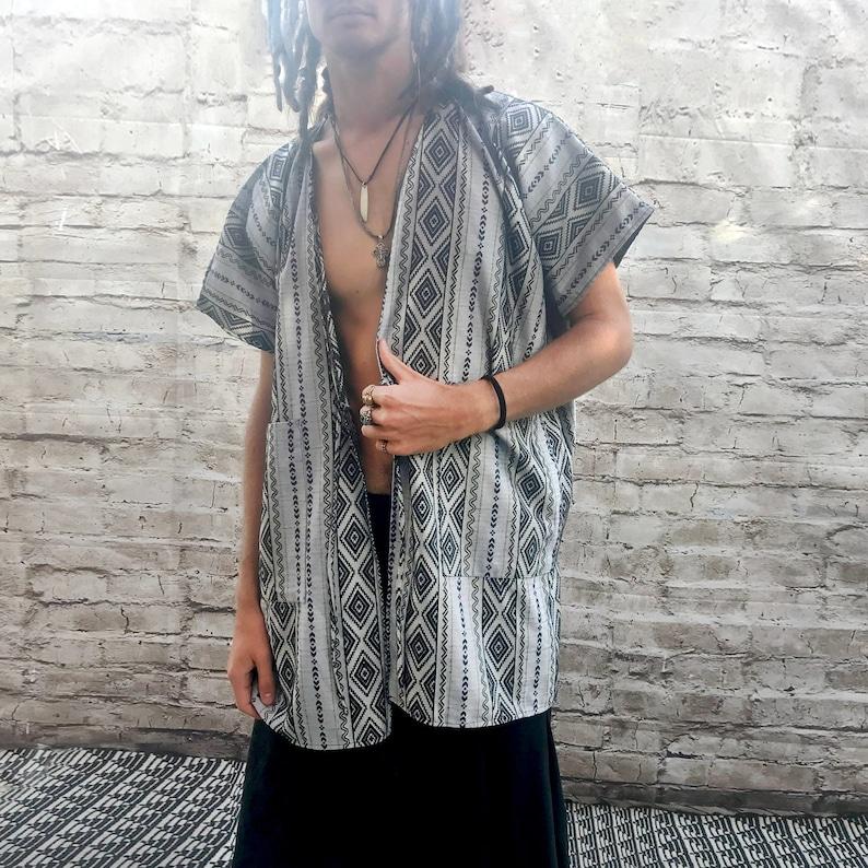 5a3634f9be Nomad Mens Kimono Shirt Mens Kimono Jacket Glorka Cotton   Etsy
