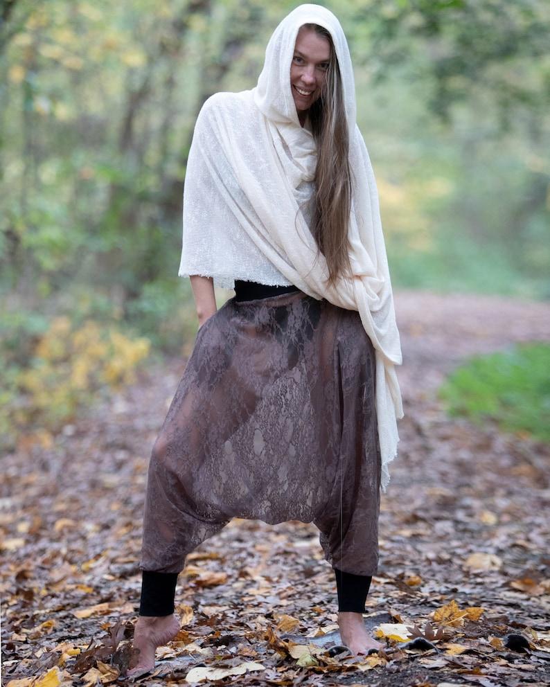 Meditation Shawl Cloak with Hood Cape with Hood Hooded Poncho Winter Poncho