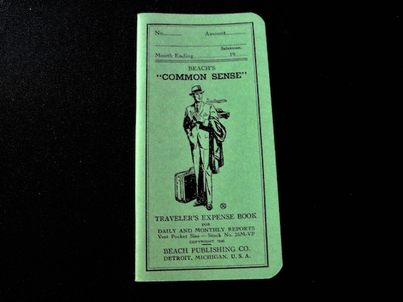 expense book traveler s book salesmen expenses monthly etsy