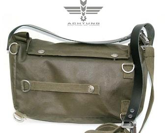 Military vintage Upcycled Swiss Gas Mask Bag